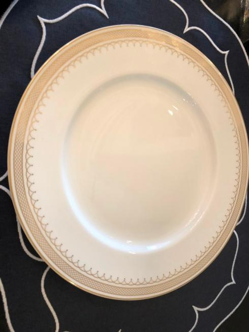 $35.00 Lattice Gold dinner plate