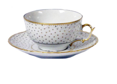 $98.00 Polka Dot Teacup and Saucer