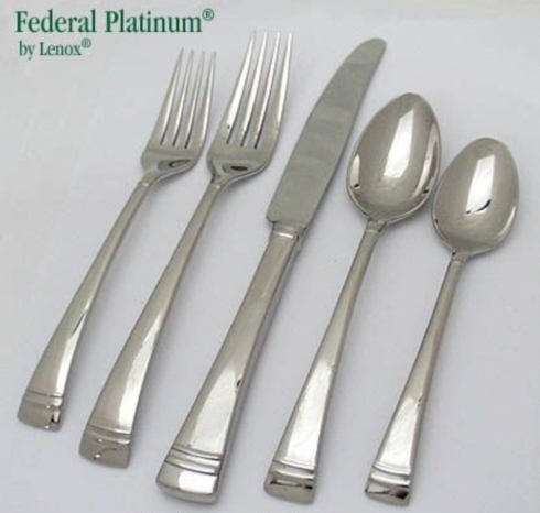 Federal Platinum five piece flatware