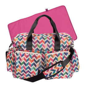 ZIGGY MULTI COLORED CHEVRON DELUXE DUFFLE DIAPER BAG collection with 1 products