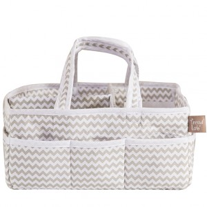 $29.95 DOVY GRAY AND WHITE CHEVRON STORAGE CADDY