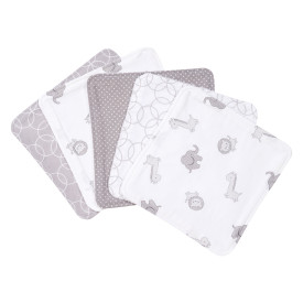 SAFARI ANIMAL 5 PACK WASH CLOTH SET collection with 1 products