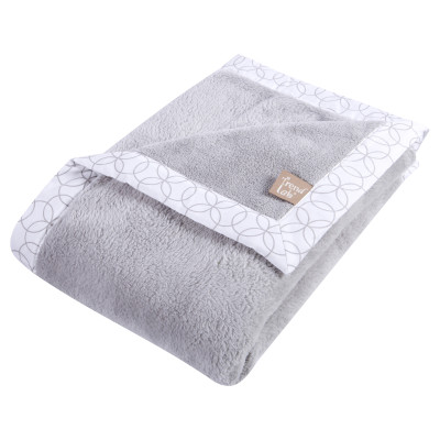 GRAY AND WHITE RECEIVING BLANKET collection with 1 products
