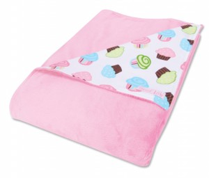 $24.95 CUPCAKE SCATTER RECEIVING BLANKET