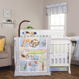 JUNGLE FUN 6 PC CRIB BEDDING SET collection with 1 products