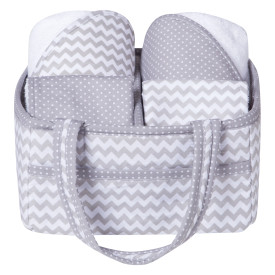 GRAY CHEVRON 5 PIECE BATH GIFT SET collection with 1 products