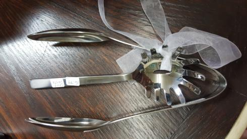 $17.00 chefs table serving tong/pasta spoon