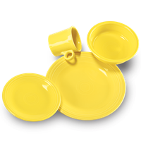 $56.00 4 pc place setting sunflower