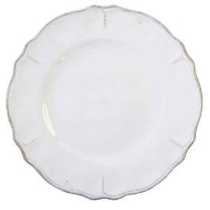 Le Cadeaux   Rustica Ant. White 11\' dinner plate $17.00