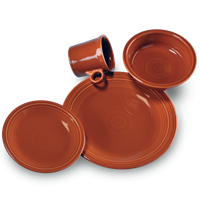 $56.00 4pc place setting paprika