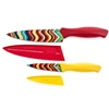 $19.00 4pc Fiesta chevron knife set