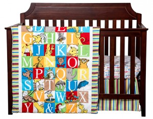 $105.45 ALPHABET SEUSS 3 PC BEDDING SET