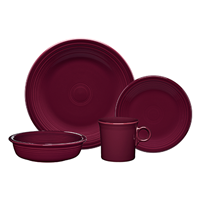 $56.00 4pc place setting claret