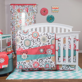 WAVERLY POM POM PLAY 4 PC BEDDING SET collection with 1 products