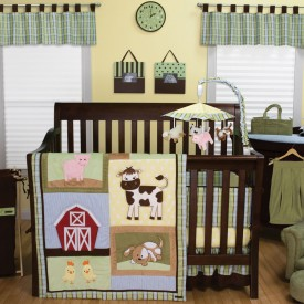 $114.55 BABY BARNYARD 3 PC BEDDING SET