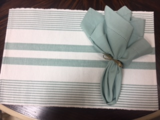 $5.99 woven placemats seaglass or burlap
