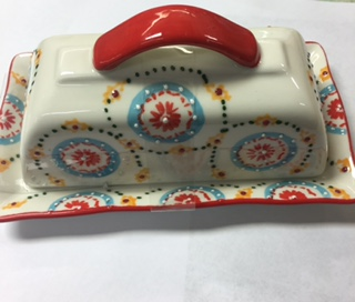 $12.99 butter dish- pattern