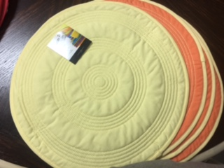 $12.00 Fiesta round quilted reversable place mats $12.00 each