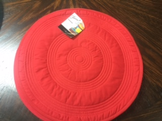$12.00 Fiesta round quilted placemats red