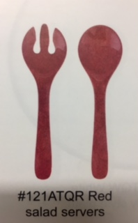 $12.00 antiqua red salad set