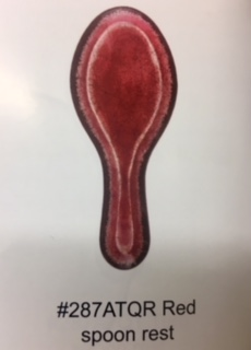 $12.00 antiqua red spoon rest
