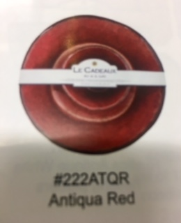 Le Cadeaux   antiqua red chip and dip $55.00