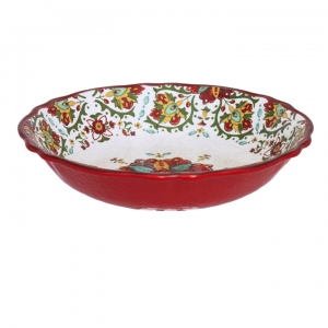 Le Cadeaux  Allegra Red Allegra Red 13.75' salad bowl $36.95