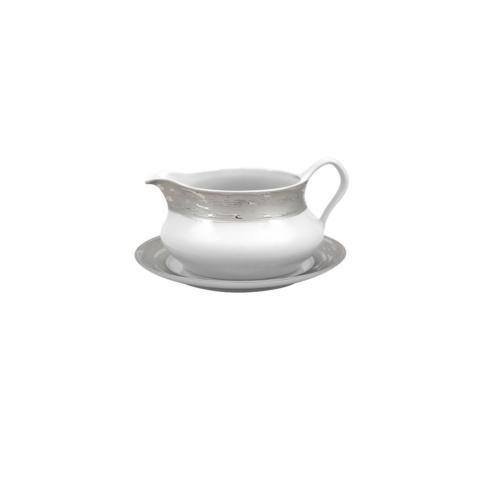 SAUCE BOAT W/ STAND