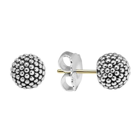 Column Circle Stud Earrings
