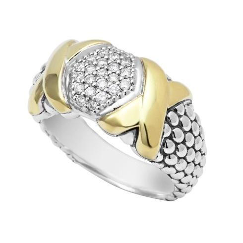 Pave Diamond Caviar Ring