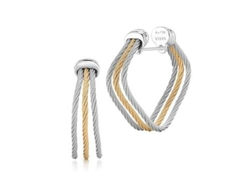 $395.00 Cable Earrings