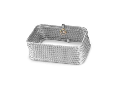 18K Yellow Gold, Stainless Steel, Grey Stainless Cable With .01ctw Diamond Wrap Bracelet