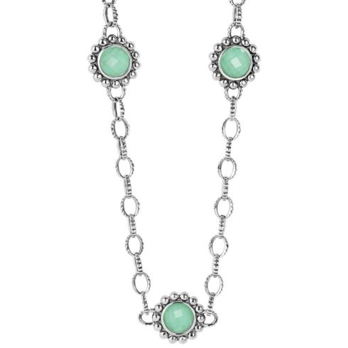 Variscite Doublet Link Necklace