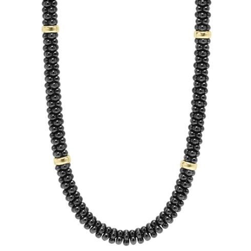 Caviar & Gold Necklace