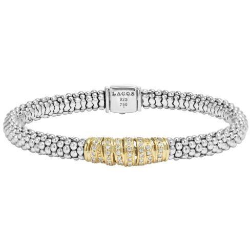 Diamond Caviar Beaded Bracelet