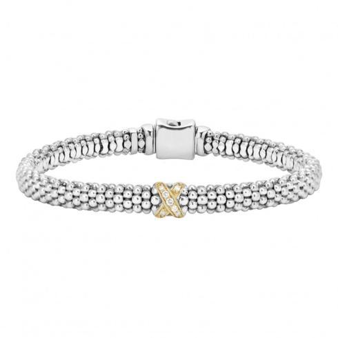 Diamond Bracelet 18k and Sterling Silver