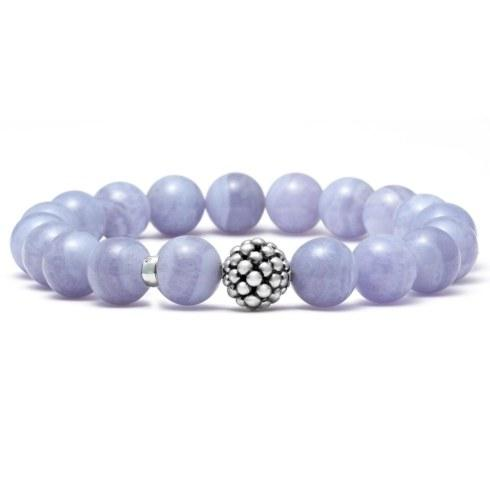 Blue Lace Agate Stretch Bracelet
