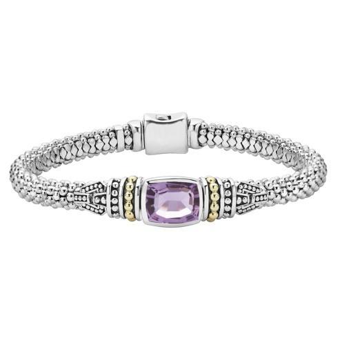 $695.00 Rose De France Amethyst Bracelet