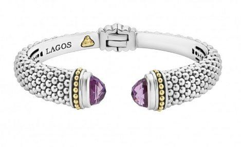 CAVIAR COLOR GEMSTONE CUFF BRACELET