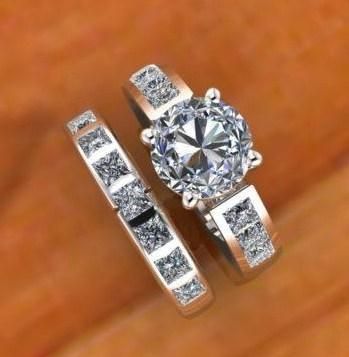 $1,000.00 Round and Princess Cut Diamonds