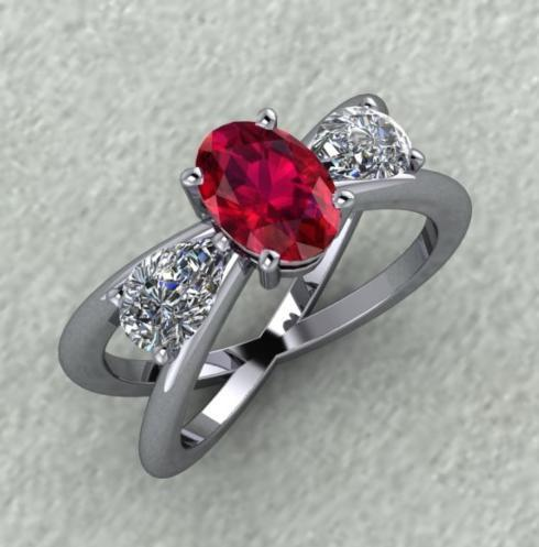 $0.00 Ruby and Diamond Ring