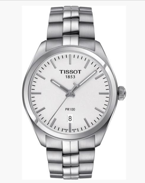 $260.00 TISSOT Men\'s PR100 Stainless Steel Silver Dial