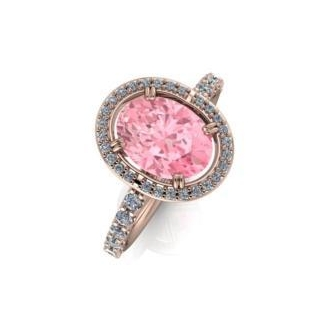 $0.00 Morganite Halo Ring