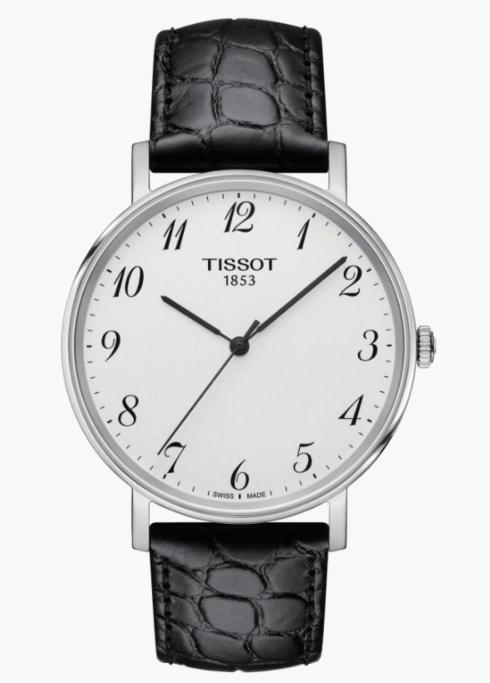 $176.00 TISSOT Gts Everytime SS Strap Blk Dial