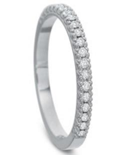 $10,000.00 Diamond Half Round Prong Set Band