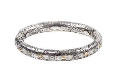 $960.00 Sterling Silver & 18k Gold Bracelet