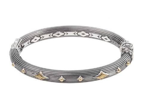 $890.00 Sterling Silver & 18k Gold Bracelet