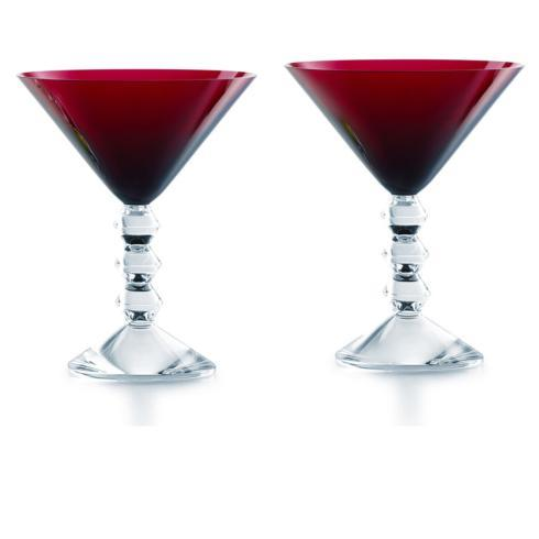 VÉGA MARTINI GLASS RED PAIR