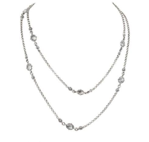 $420.00 SS & 18K Gold Crystal and Corundum Necklace