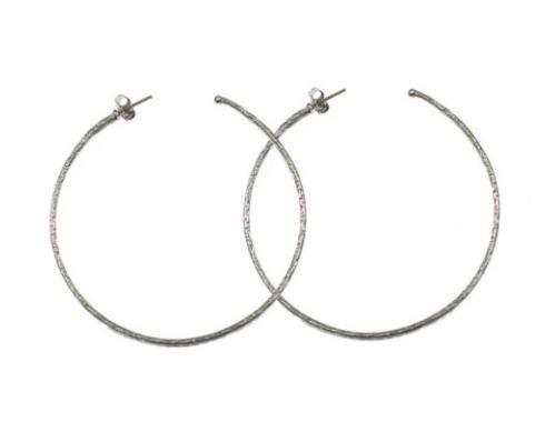 $250.00 Sterling Silver Hoop Earring